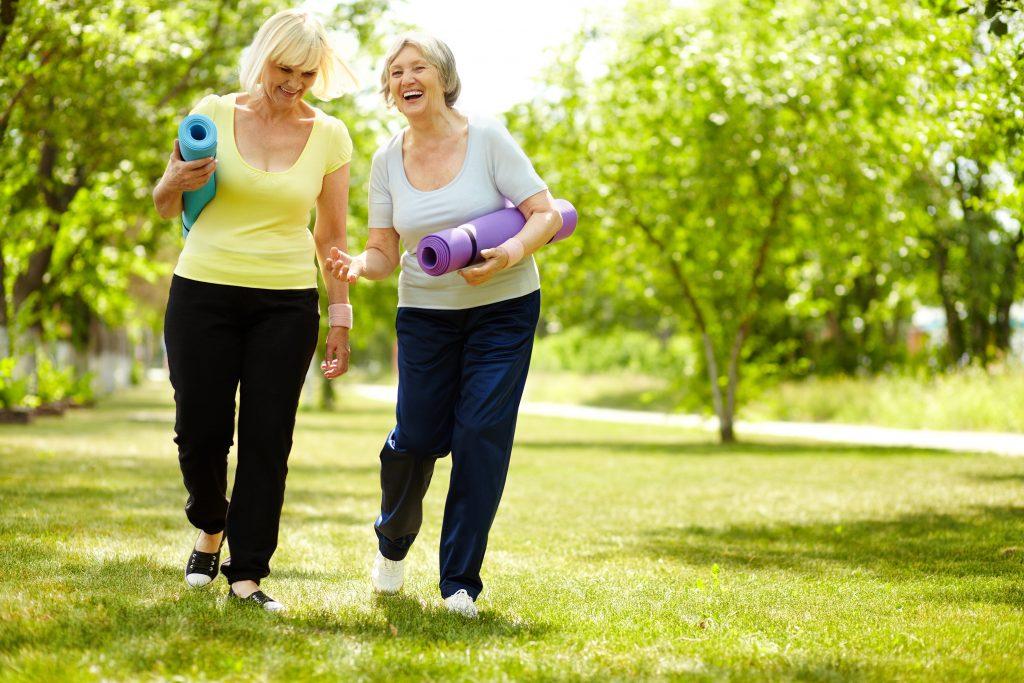 older women yoga mats